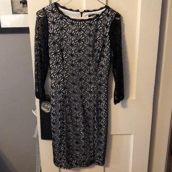 Nikibiki Dresses & Skirts - Black and white eyelet dress